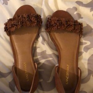 Lane Bryant brown sandals size 8w